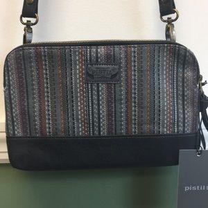 Pistil Crossbody Bag in Grey with Black Trim